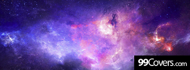 purple abstract galaxy Facebook Cover