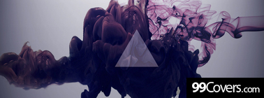abstract hipster triangle smoke Facebook Cover Photo