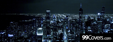night cityscape Facebook Cover Photo