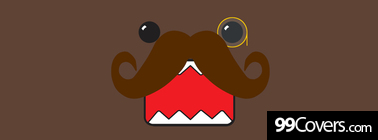 funny domo kun mustache Facebook Cover Photo
