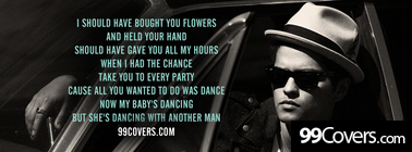 bruno mars when i was your man lyrics Facebook Cover Photo