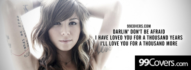 Christina Perri A Thousand Years Lyrics Facebook Cover Photo