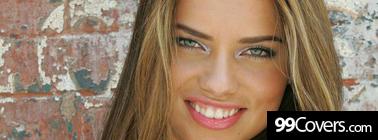 adriana lima smile teeth Facebook Cover Photo
