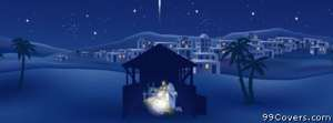 baby jesus manger Facebook Cover Photo