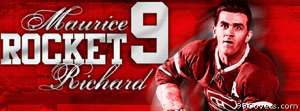 montreal canadiens maurice rocket richard Facebook Cover Photo