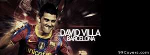 barcelona david villa Facebook Cover