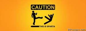caution stick sparta Facebook Cover Photo