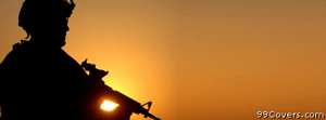 us army soldier sunset Facebook Cover Photo