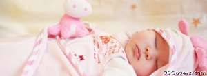 sleeping baby girl Facebook Cover