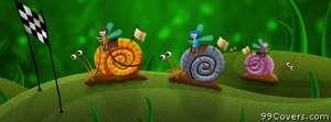 snail race Facebook Cover Photo