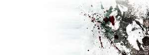 anger splatter wolf Facebook Cover Photo