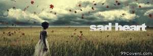 sad heart Facebook Cover Photo