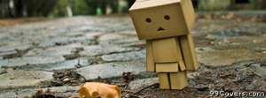 sad robot leaf Facebook Cover Photo