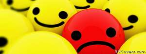 unhappy in happy Facebook Cover Photo