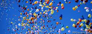 balloons rising Facebook Cover Photo