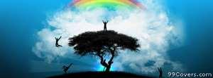 happy island rainbow Facebook Cover Photo