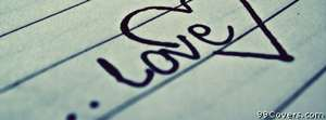 love note Facebook Cover Photo
