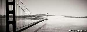 golden gate bridge fog Facebook Cover Photo