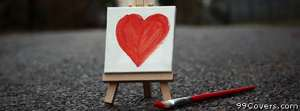 small painted heart Facebook Cover Photo