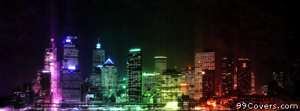 colorful city scape Facebook Cover
