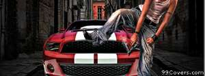 city thug with mustang Facebook Cover Photo