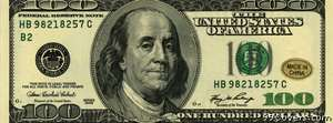 benjamin franklin 100 bill Facebook Cover