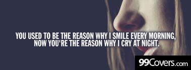 the reason why i cry at night Facebook Cover Photo