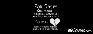 heart for sale Facebook Cover Photo