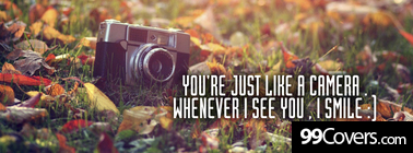 just like a camera Facebook Cover Photo