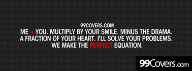 the perfect equation Facebook Cover Photo