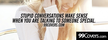 stupid conversations Facebook Cover Photo