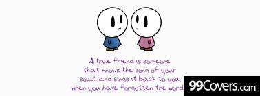 a true friend Facebook Cover Photo