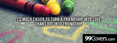 friendship into love Facebook Cover Photo