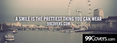 the prettiest thing you can wear Facebook Cover Photo