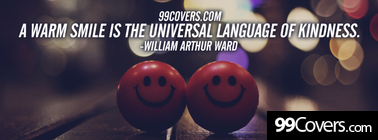 the universal language Facebook Cover Photo