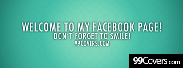 welcome to my page Facebook Cover Photo