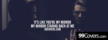 justin timberlake mirrors lyrics Facebook Cover Photo
