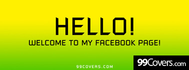 hello and welcome Facebook Cover Photo