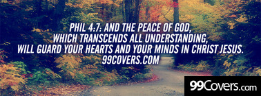 Phil 4:7 and your minds in christ jesus Facebook Cover Photo
