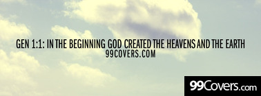 Gen 1:1 the heavens and the earth Facebook Cover Photo