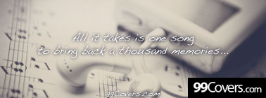 all it takes is one song Facebook Cover Photo