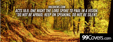 Acts 18:9  One night the Lord spoke Facebook Cover Photo