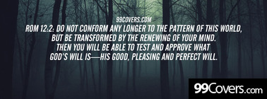 Rom 12:2  Do not conform any longer Facebook Cover Photo