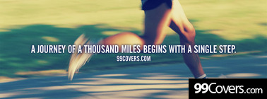 A journey of a thousand miles Facebook Cover Photo