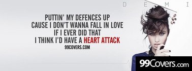 Heart Attack Demi Lovato lyrics Facebook Cover Photo