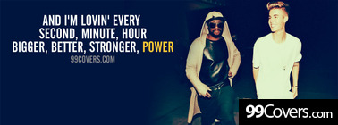 #thatPOWER will.i.am and Justin Bieber lyrics Facebook Cover Photo