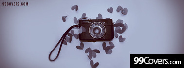 sweet memories camera hearts Facebook Cover Photo