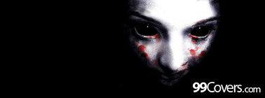scary girl ghost face Facebook Cover Photo