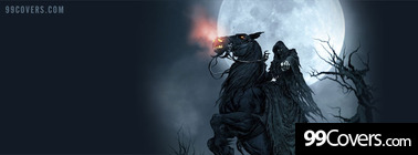 horse riding ghost Facebook Cover Photo