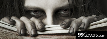 scary peeking girl Facebook Cover Photo